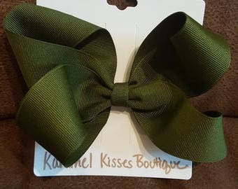 Army Green Bow