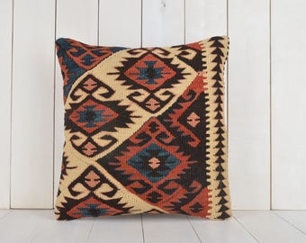 turkish kilim pillow anatolian kilim pillow vintage kilim pillow 16 inch ethnic pillow bohemian kilim pillow cover kilim pillow case