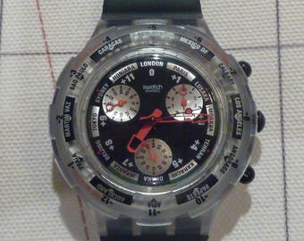 Vintage Swatch Chronograph World Time
