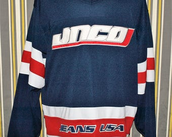 Rare JNCO Jeans 90's Hip Hop USA Hockey Style Jersey Size XL