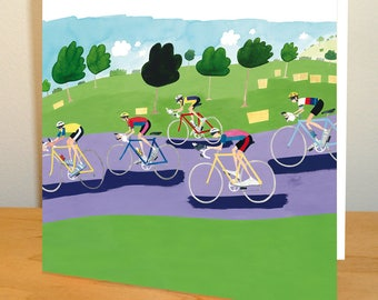 Cycling Greetings Card