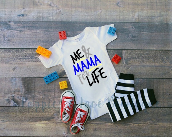 Me & Mama For Life Bodysuit, Boys Shirt, Hipster Baby, Trendy Baby Boy Clothes