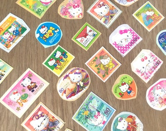 Japanese Postage Stamps- Hello Kitty  25 in pack