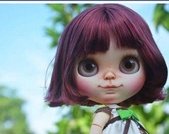 """On layaway, Ms Cindy, 3rd payment! Delightful""""Smiley"""" come play with me, l will make you smile..blythe custom doll by Wowjoblythe ooak"""