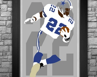 EMMITT SMITH minimalism style limited edition art print. Choose from 3 sizes!