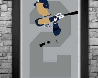 DEREK JETER minimalism style limited edition art print. Choose from 3 sizes!