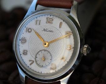 Soviet watch. Vintage mechanical watch USSR. KAMA watch. Rare old mens watch.