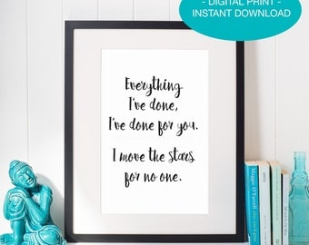 INSTANT DIGITAL DOWNLOAD, Labyrinth Quote Printable, Pink and Black, Goblin King Quote, David Bowie, Home Decor Print, Labyrinth Art