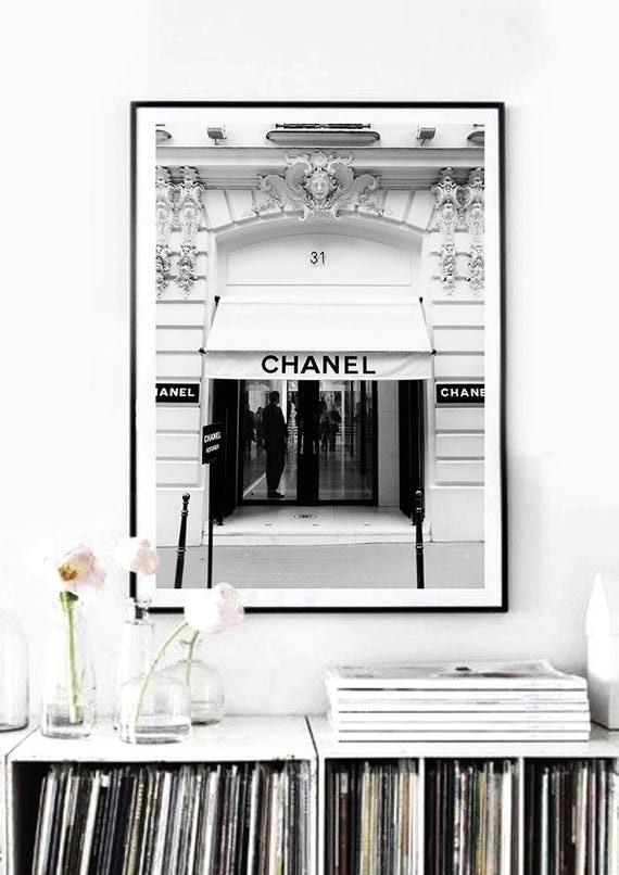 31 rue cambon boutique paris vintage fashion poster print. Black Bedroom Furniture Sets. Home Design Ideas