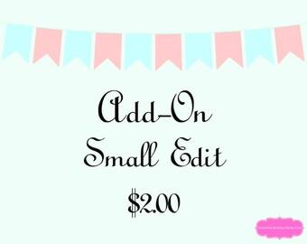 Add-On Small Editing