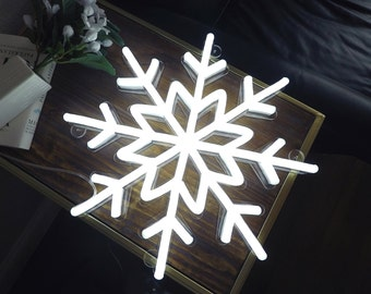 Snowflake Handmade neon sign, Custom neon light, Ready-made 16''x 16''