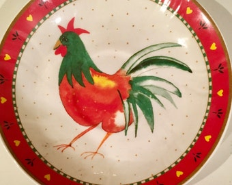 Heirloom Fine  Bone China Rooster vintage Plate made in England