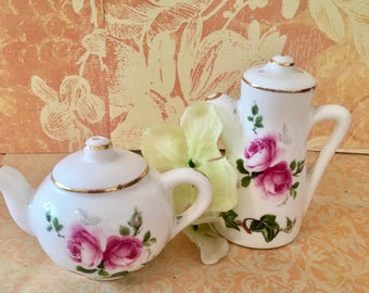 Staffordshire Vintage Fine Bone China Salt and Pepper Shaker made in England