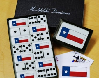 Texas Flag Dominoes & Playing Cards Gift Set