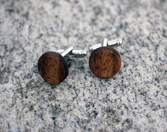 Koa Wood Cufflinks