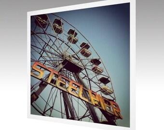 Photography Art Print Atlantic City Steel Pier Ferris Wheel