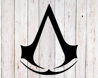Assassins Creed decal, assassins creed logo sticker, ezio auditore decal, video game decal, gamer sticker, yeti decal, tumbler decal, black