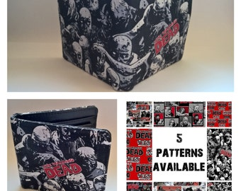 walking dead, mens wallet, 5 patterns available