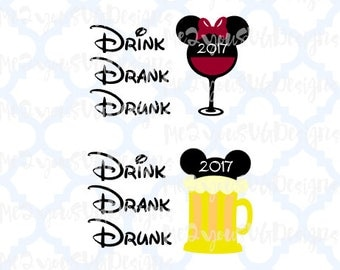 Drink Drank Drunk Beer and Wine SVG,EPS,PNG,Studio