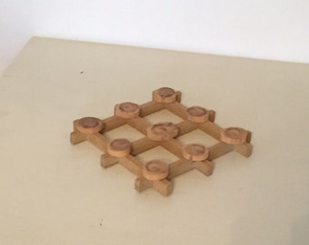 Little Rustic Wooden Trivet - Vintage Swedish