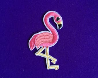 Flamingo patch / sew on patch / iron on patch