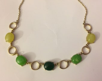 Green gold colored necklace