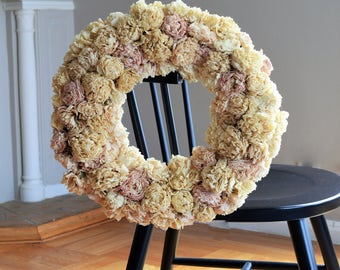 Dry Peony Wreath | Dried Floral Wreath | Dried Flower Door Wreath | Summer Wreath | Floral Wreath Door | Dried Flora Wreath | Dry Wreath