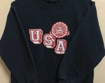 Vintage 90's USA Dream Sport Classic Design Skate Sweat Shirt Sweater Varsity Jacket Size S #A693