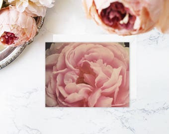 Pink Floral Note Cards - Blank Note Cards - Boxed Set - Rose Flower