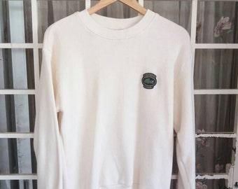 Vintage Chemise lacoste sweatshirt with logo patchers/large/sportwear