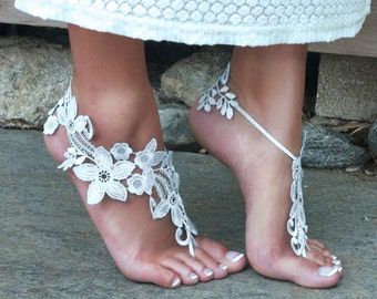 OFF-WHITE Barefoot Sandals Beach Wedding Boho Bride TIFFANY Bare Foot Sandels Maternity Shoe Pool Party Outdoor Festival Accessory Summer