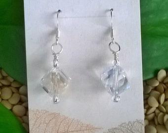 Crystal Cube Earrings, Crystal Earrings, Wedding Jewelry, Summer Jewelry, Crystal Earrings, Statement Earrings, Happy Earrings