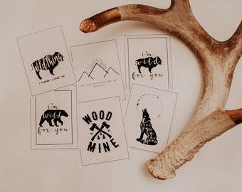 Wild Valentines Cards | Valentines Cards | Printable Valentines Cards | Valentines Day Cards | Animal Valentines | Woodland Valentines