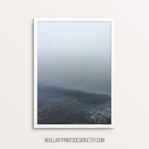 Ocean Print, Sea Art, Ocean Photography, Coastal Wall Art, Ocean Printable Art, Coastal Print, Water Print, black and white, nature decor