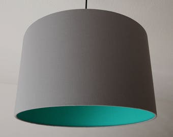 "Lampshade ""Stonegray-Greenturquoise"""