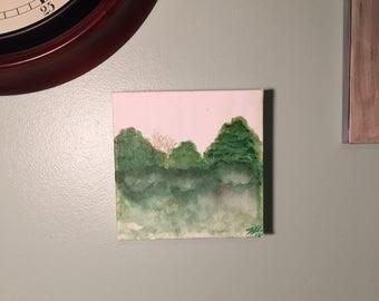 Watercolor Treeline | canvas