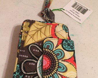 Vera Bradley new Smartphone Wristlet 2.0. Fits an I phone 4, 5 or 6 and many other brands. Flower shower print