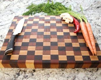 End Grain Chopping Block - Cutting Board, Wedding Gift, Housewarming Gift, Anniversary Gift, Engagement