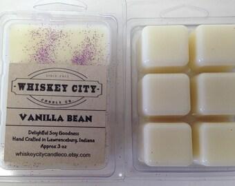 Vanilla Bean Wax Melts Clamshell Bar Highly Scented 6 cavity