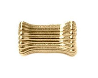 4.5x6mm Gold Filled Corrugated Stubby Tube Beads 14/20kt.