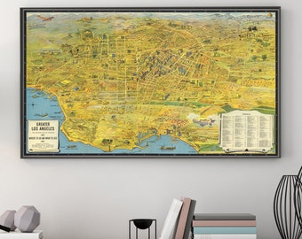 Los Angeles Art Etsy - Los angeles map wallpaper