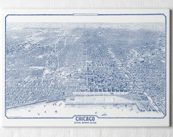 Chicago Map Art, Chicago Skyline Canvas, Chicago Wall Decor, Chicago Artwork, Chicago Skyline Wall Art, Chicago Poster, Chicago Gifts, 207