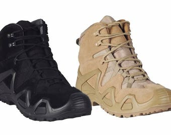 Tactical fight shoes Boots demi-season tactical Alligator Black and Coyote