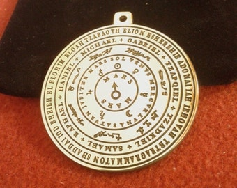 The planets, the names of God and the Seven Archangels. Mars pendant
