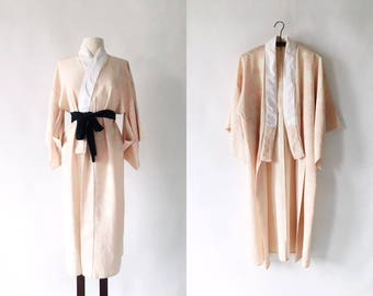 Blush Floral 40s Rayon Jyuban - Pink Cream Under Kimono
