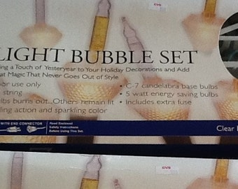 Vintage Merry Brite Bubble Light Set