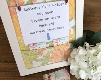 Business Card Holder | Business Slogan Display Frame