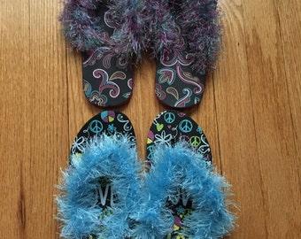 Flip Flop Crochet Slippers