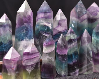Fluorite Tower/ Colorful Fluorite/Fluorite Point/Colorful Rocks-1 point -Approx.2~4inches  height