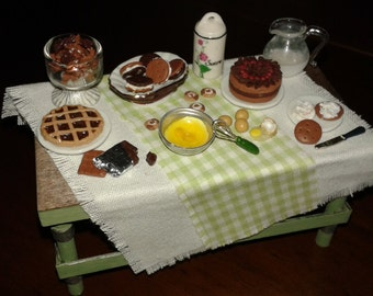 "Scale miniatures dolls house 1:12 ""prepare sweets!"""